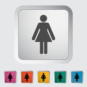 Female gender sign — Stock Vector