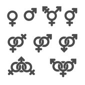 Gender symbol icons. — Stock Vector