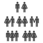 Gender symbol 2 — Stock Vector