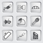 Car part and service icons set 4. — Stock Vector