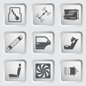 Car part and service icons set 3. — Stock Vector