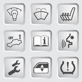 Car Dashboard icons 4 — Vecteur