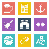 Icons for Web Design and Mobile Applications set 4 — Stock Vector