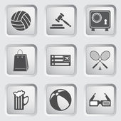 Icons on the buttons for Web Design. Set 1 — Stock Vector