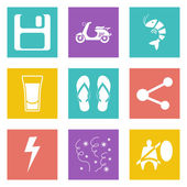 Web tasarım için renk simgeleri 27 ayarla — Stok Vektör