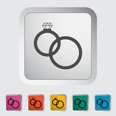 Wedding rings — Stock Vector