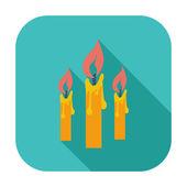 Kerzen einzelnes symbol. — Stockvektor