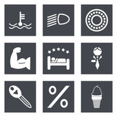 Icons for Web Design set 34 — Stock Vector