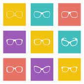 Glasses and sunglasses — Stock Vector