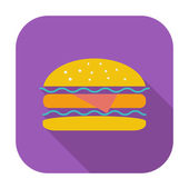 Burger — Vector de stock