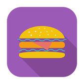 Burger — Stockvektor