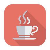 Café enda ikon. — Stockvektor