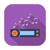 Car radio icon. — Stock Vector