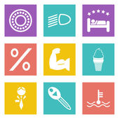 Color icons for Web Design set 34 — Stock Vector