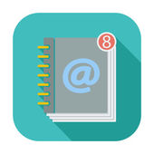 Contact book single icon. — Stock Vector