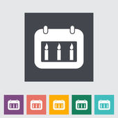 Ikona kalendarz — Wektor stockowy