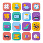 Flat icons for Web Design — Stock Vector