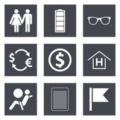 Icons for Web Design set 47 — Stock Vector