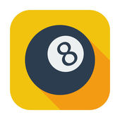 Billiard ball — Vector de stock
