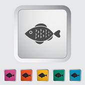 Icono de pescado — Vector de stock