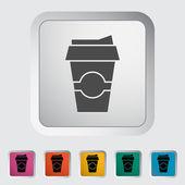 Papper snabbmat cup — Stockvektor