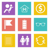 Color icons for Web Design set 47 — Stock Vector