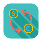 Currency exchange single flat icon. — Stock Vector