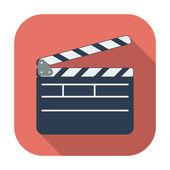 Director clapperboard icon. — Stock Vector
