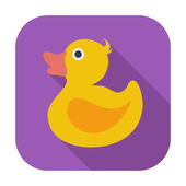 Duck flat icon — Stock Vector