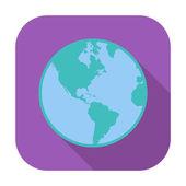 地球图标. — 图库矢量图片
