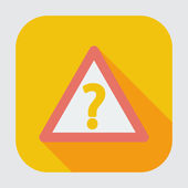 Question single icon. — Stock Vector