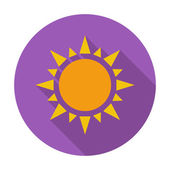 Sun flat icon — Stock Vector