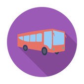 Bus flat icon — Stok Vektör