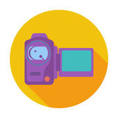 Video camera één pictogram. — Stockvector