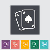 Jugar carta — Vector de stock