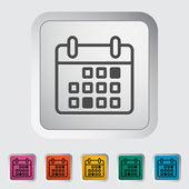 Calendar stroke icon — Stock Vector