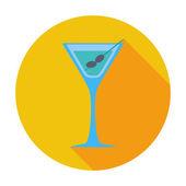 Jednoduchý ikona martini. — Stock vektor