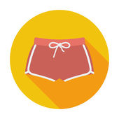 Sports shorts single icon. — Stock Vector