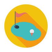 Golf single icon. — Stock Vector