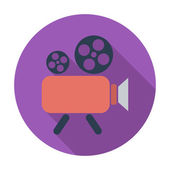 Videocamera — Stockvector