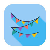 Bunting icon — Stock Vector