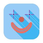 Clown icon — Stock Vector