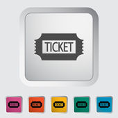 Ticket. — Vettoriale Stock