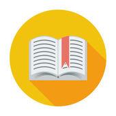 Book. Single flat icon. — Stock Vector
