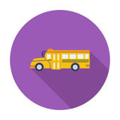 Schulbus-flach-symbol. — Stockvektor