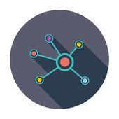 Social network single icon. — Stock Vector