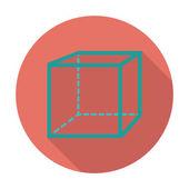 Geometric cube. — Stock Vector