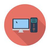 Computer flat icon — 图库矢量图片