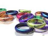 Veelkleurige ringen — Stockfoto