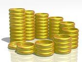 Anelli d'oro intorno — Foto Stock